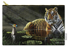 Carry-all Pouch featuring the digital art A Chance Encounter by Don Olea