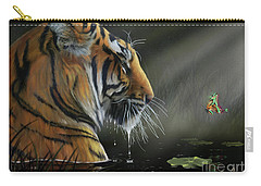 Carry-all Pouch featuring the digital art A Chance Encounter II by Don Olea