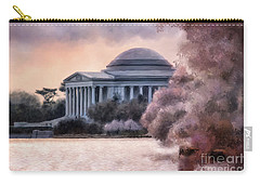 Carry-all Pouch featuring the digital art A Cherry Blossom Dawn by Lois Bryan