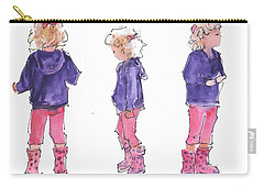 A Childs Pose Carry-all Pouch