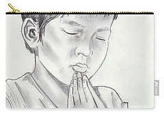 A Child's Prayer Carry-all Pouch by John Keaton