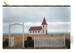Carry-all Pouch featuring the photograph A Church With No Fence by Dubi Roman