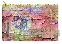 Carry-all Pouch featuring the mixed media A City Besieged by Paula Ayers