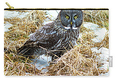 A Close Encounter - Great Gray Owl Carry-all Pouch