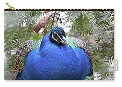 A Close Up Look At A Blue Peafowl Carry-all Pouch