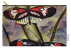 Carry-all Pouch featuring the painting A Colorful Couple by Sam Sidders