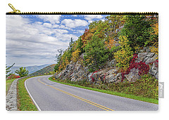 Carry-all Pouch featuring the photograph A Colorful Curve On Skyline Drive by Lori Coleman