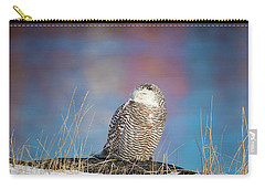 A Colorful Snowy Owl Carry-all Pouch