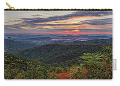 Carry-all Pouch featuring the photograph A Colorful Sunrise by Lori Coleman