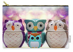 A Colourful Parliament Of Owls Carry-all Pouch by Martina Fagan