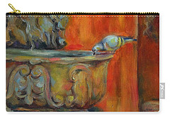 Carry-all Pouch featuring the painting A Cool Drink by Chris Brandley