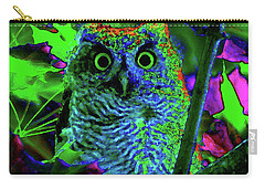A Cosmic Owl In A Psychedelic Forest Carry-all Pouch