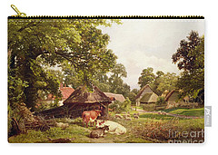 A Cottage Home In Surrey Carry-all Pouch by Edward Henry Holder