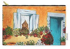 A Cottage In The Village Carry-all Pouch by Patricia Griffin Brett