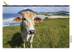 A Cow At The Beach Carry-all Pouch