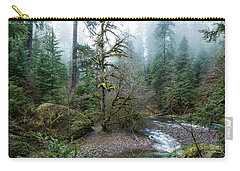 Carry-all Pouch featuring the photograph A Creek Runs Through It by Belinda Greb