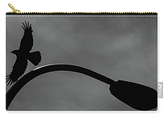 A Crow And A Streetlight Carry-all Pouch