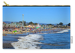 Carry-all Pouch featuring the photograph A Crowded Beach In Santa Cruz by Glenn McCarthy Art and Photography
