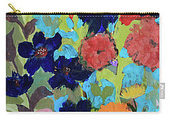Carry-all Pouch featuring the painting A Dandelion Weed Making It's Way In The Garden by Robin Maria Pedrero
