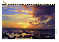 Carry-all Pouch featuring the photograph A Dark Cloud Among Colour by Tara Turner