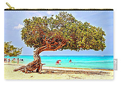 Carry-all Pouch featuring the photograph A Day At Eagle Beach by DJ Florek