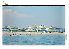 Carry-all Pouch featuring the photograph A Day At The Beach - Cape May New Jesey by Bill Cannon