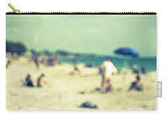Carry-all Pouch featuring the photograph a day at the beach I by Hannes Cmarits