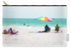 Carry-all Pouch featuring the photograph a day at the beach IV by Hannes Cmarits