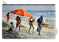 A Day At The Beach Carry-all Pouch by Karyn Robinson
