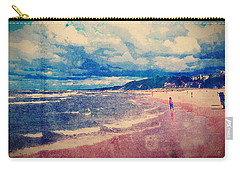 Carry-all Pouch featuring the photograph A Day At The Beach by Phil Perkins