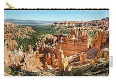 Carry-all Pouch featuring the photograph A Day In Bryce Canyon by Margaret Pitcher