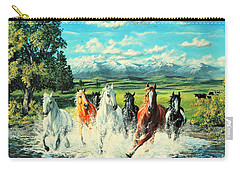 Montana Range Horses Carry-all Pouch