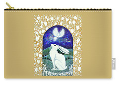 Carry-all Pouch featuring the painting A Deep Thought by Lise Winne