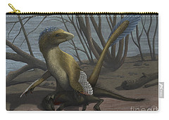 A Deinonychus Protects Its Kill Carry-all Pouch