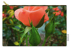Carry-all Pouch featuring the photograph A Delicate Pink Rose by Chad and Stacey Hall