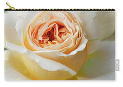 A Delicate Rose In Peach Carry-all Pouch
