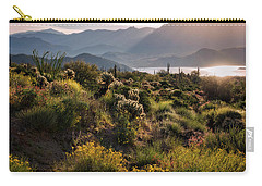 Carry-all Pouch featuring the photograph A Desert Spring Morning  by Saija Lehtonen