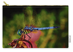 Carry-all Pouch featuring the photograph A Dragonfly 028 by George Bostian
