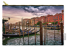 Vintage Buildings And Dramatic Sky, A Dreamlike Seascape In Venice Carry-all Pouch