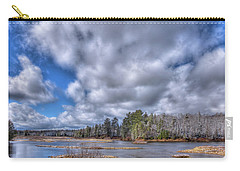 Carry-all Pouch featuring the photograph A Dusting Of Snow by David Patterson