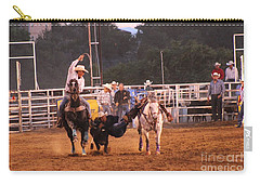 A Dusty Rodeo Challenge Carry-all Pouch by Natalie Ortiz