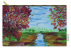 A Fall Day Carry-all Pouch by Donna Brown