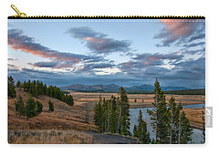 A Fall Evening In Hayden Valley Carry-all Pouch by Steve Stuller