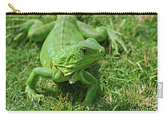 A Fantastic Look At A Green Iguana Carry-all Pouch by DejaVu Designs
