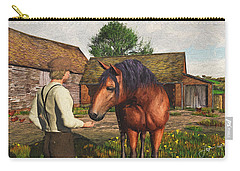 A Farmer And His Horse Carry-all Pouch