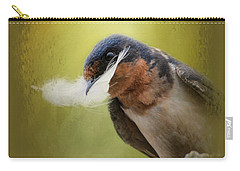 A Feather For Her Nest Carry-all Pouch by Jai Johnson