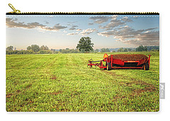 Carry-all Pouch featuring the photograph A Field At Sunrise by Lars Lentz