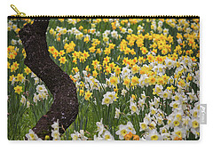 A Field Of Daffodils Carry-all Pouch by Mitch Shindelbower