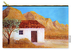 Carry-all Pouch featuring the painting A Finca In Spain by Valerie Anne Kelly