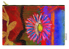 Carry-all Pouch featuring the painting A Flower For You by Angela L Walker